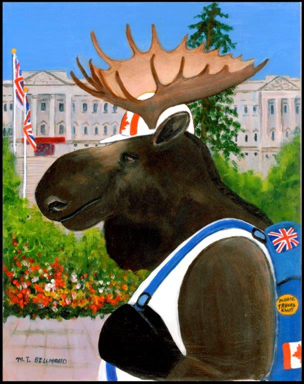 A Canadian Moose in London