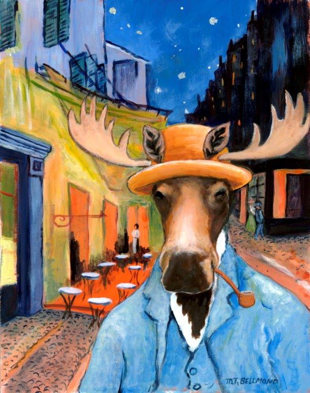 A Canadian Moose in a Van Gogh Painting