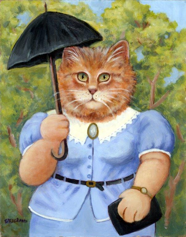 Cat with a Parasol