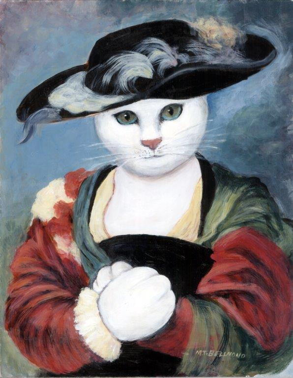 Kitty with Straw Hat